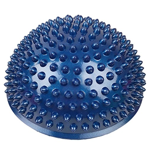 Balance Pods,PeleusTech 16cm/6.3inch Hedgehog Balancing Pods Domed Stability Pods Half Round Yoga Balance Spiky Massager Ball Stepping Stone Foot Sole Trigger Point Hemisphere