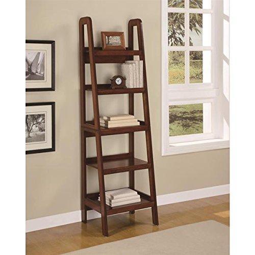 Altra Platform Mahogany Ladder Bookcase (72