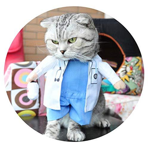 (Funny pet catclothing Police cat Clothes Cool Suit Uniform with hat Suit Nurse Supplies for)