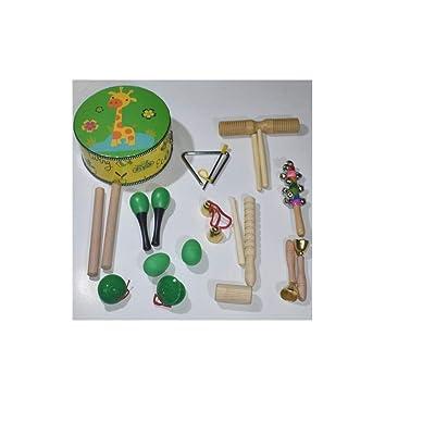 DINGANG Set de percusión Infantil, combinación de Libro de Texto de música.@A2: Juguetes y juegos