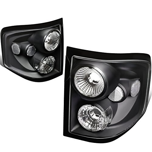 DNA Motoring CLOSE-TLBK-F150-0405-FR Altezza Style Tail Light Black [For 04-08 Ford F150 Flareside]