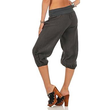 Yying Femme Pantacourt Pantalons Courts 3