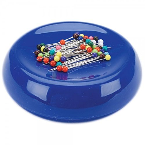 Grabbit Magnetic Sewing Pincushion with 50 Plastic Head Pins, ()