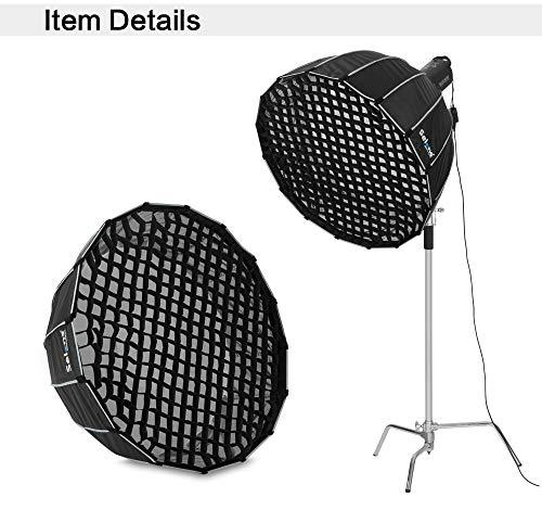 Honeycomb Grid Xennos 90cm 120cm 150cm 190cm 16 Rods Hexadecagon Umbrella Softbox Deep Parabolic Studio Light Modifier - (Color: 150cm)
