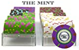 Claysmith Gaming 200-Count 'The Mint' Poker Chip Set in Acrylic Case, 13.5gm