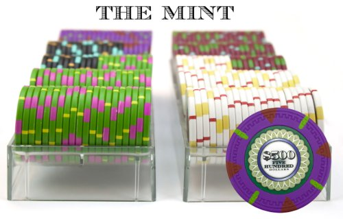 Claysmith Gaming 200-Count 'The Mint' Poker Chip Set in Acrylic Case, 13.5gm by Claysmith Gaming