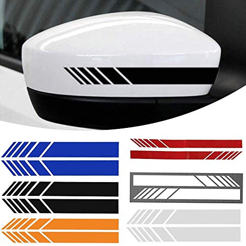 2Pcs Car Rear side View Mirror Stripe Decals and stickers for car Decor DIY Car Body Sticker Side Decal Vinyl Graphic
