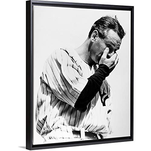 Lou Gehrig (1903-1941), Baseball Player Black Floating Frame Canvas Art, 20