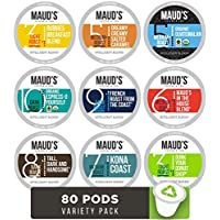 80-Count Mauds Gourmet Coffee Pods-Single Serve Coffee Variety Pack