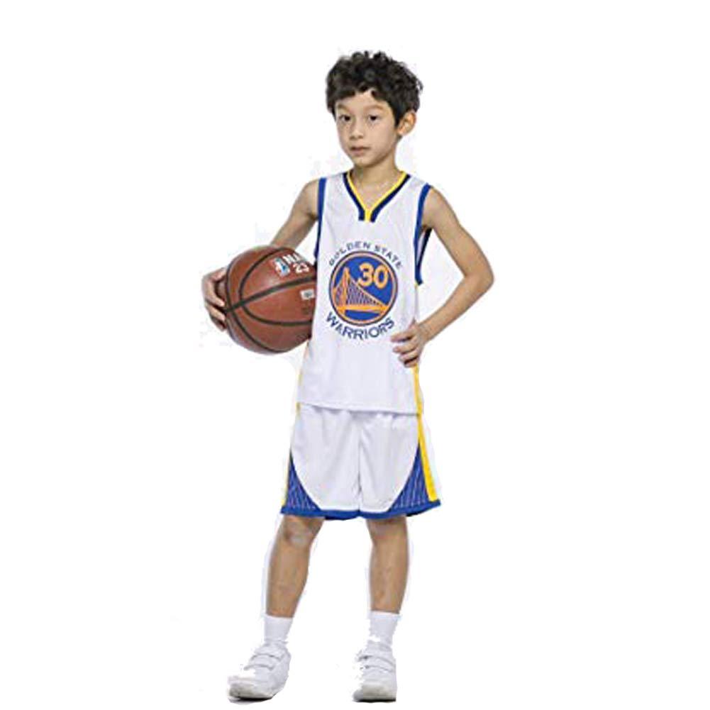 TFMus Maillots de Basketball pour Enfants - NBA Set Maillot de Basket-Ball Gilet et Short d'été pour garçons et Filles