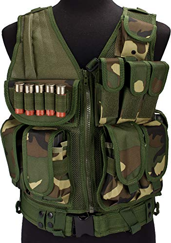 Evike Airsoft Zombie Hunter Starter's Tactical Vest Package (Color: Woodland) (Best Airsoft Cqb Loadout)