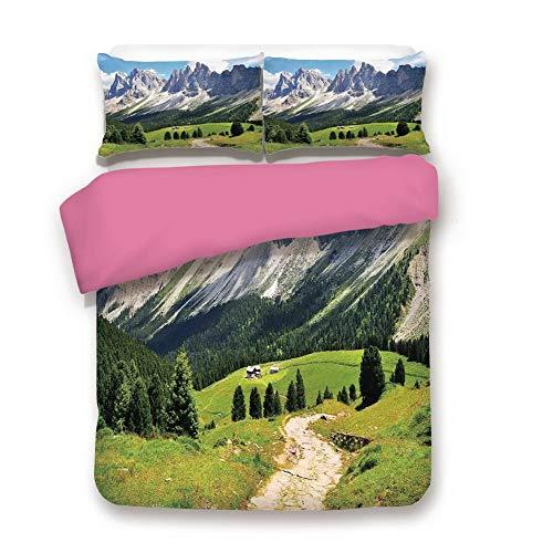 HomeZJJF7 Bedding Sets Soft Brushed Microfiber 3D Printing for Bedroom Decor,1 Duvet Cover and 2 Pillow Shams, King Size
