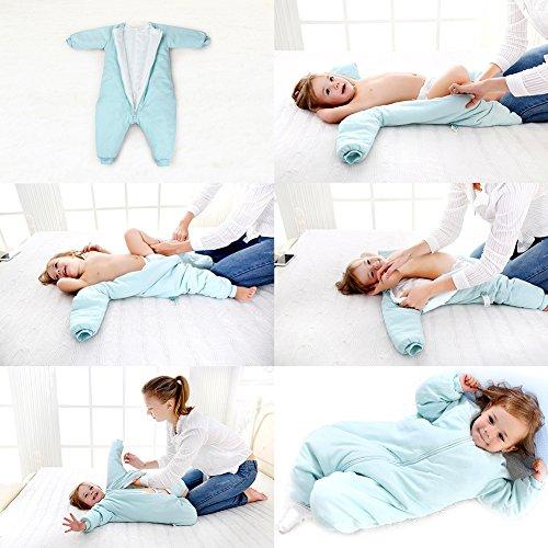 Baby Sleep Sack With Feet Winter Early Walker Wearable