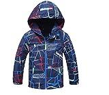 Koo-T Boys Raincoat Mac Summer Jacket Hood Wind Breaker Lightweight (4-5 Years (Medium), Navy)