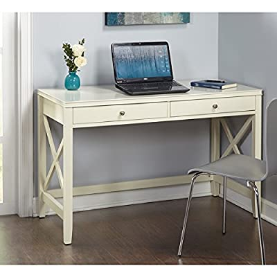 Simple Living Anderson X Writing Computer home Office Desk - Two wide drawers keep essentials close -- Large work surface to accommodate computer and other items Pine legs and MDF construction lend strength -- X designs on the sides add elegance to the desk and add strength and stability Each drawer measures 2.75 inches high x 20 inches wide x 12.8 inches deep - writing-desks, living-room-furniture, living-room - 51xgwgrwEhL. SS400  -