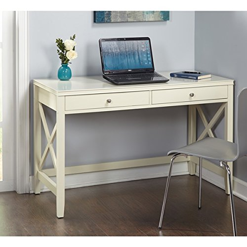 Simple Living Anderson X Desk (Honey Pine Desk)