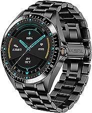 Relógio Inteligente Masculino, Pulseira De Aço, Atividade, Pedômetro De Rastreamento De Condicionamento Físico