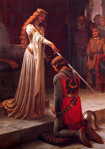 - Gifts Delight LAMINATED 24x34 inches Poster: Accolade Knight Middle Ages Award Edmund Blair Leighton Painting