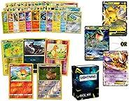 Ultra Rare Pokémon Bundle- 50+ Cards= 50 Cards + 5 foil Cards, 1 Random Legendary Ultra-Rare Card, Plus a Ligh