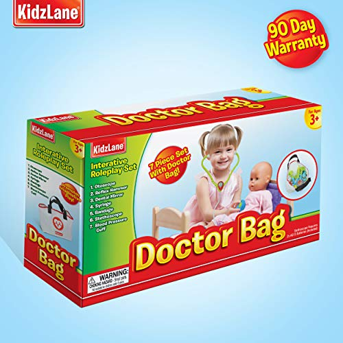 Kidzlane Play Doctor Kit for Kids and Toddlers – Kids Doctor Play Set – 7 Piece Dr Set with Medical Storage Bag and…