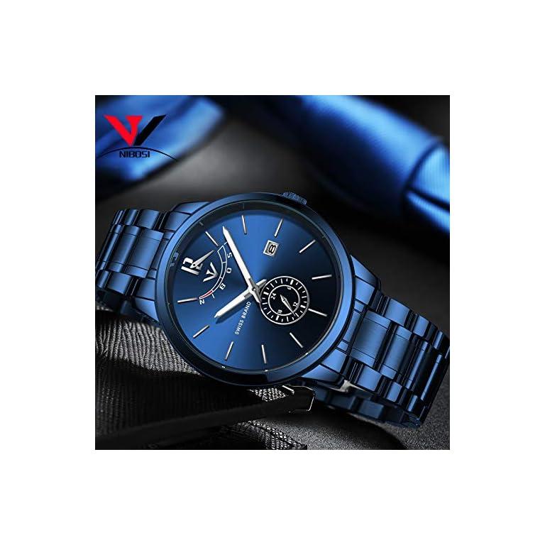 51xgxrue9NL. SS768  - NIBOSI Analogue Black Dial Men's Watch