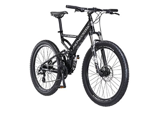 26″ Mongoose Blackcomb Mountain Bike, Black For Sale