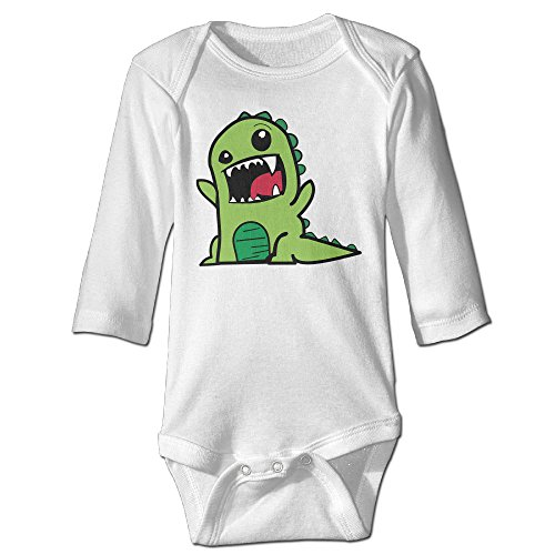 [IxiaDHJ Baby Green Dinosaur Unisex Long Sleeveless Climbing Suits Tank Tops Size 6 M White] (Soul Train Outfits)