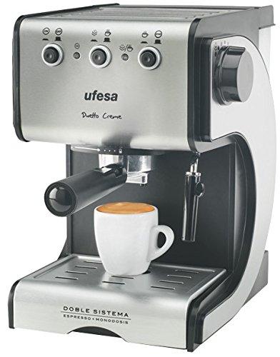Ufesa CE7141- Cafetera espresso, 1050 W, 2 tazas, capacidad de...