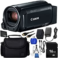 Canon VIXIA HF R80 Camcorder 6PC Accessory Bundle - Includes 16GB SD Memory Card + High Speed Memory Card Reader + Medium Carrying Case + Mini HDMI Cable + Starter Kit + Microfiber Cleaning Cloth