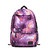 Artone Universe Nylon Casual Daypack with Interior Zipper Pocket and Laptop Compartment Purple M