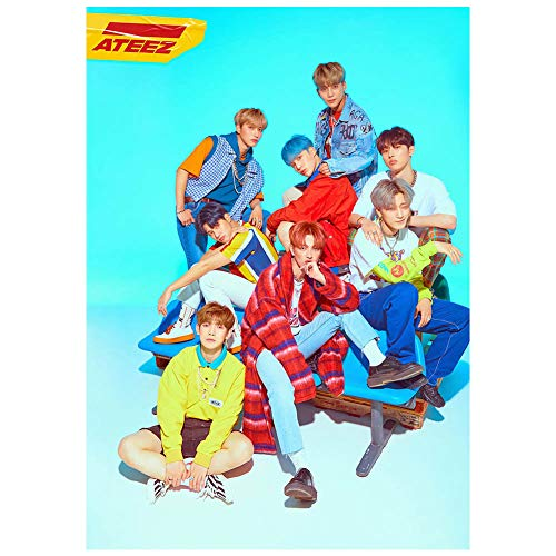 Youyouchard Kpop ATEEZ Treasure EP.FIN: All to Action New Album Photo Poster San Wooyoung Seonghwa Poster Official Supported Poster Photo, 42×30cm(Style 03)