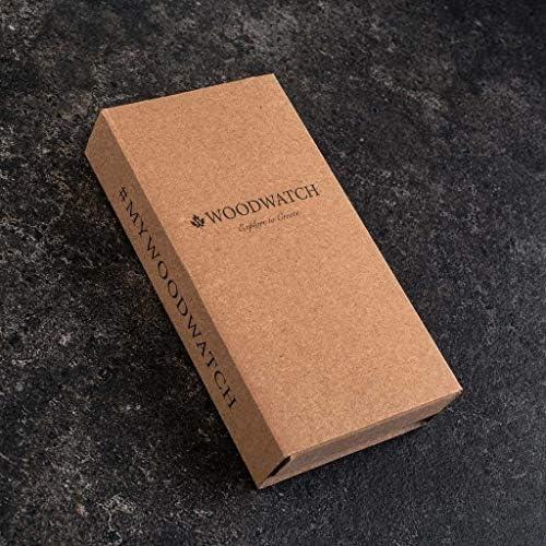 Dark Eclipse | Ufficiale WoodWatch | Realizzato a mano | Movimento al quarzo giapponese | Orologio resistente e antispruzzo con elegante cassa in legno
