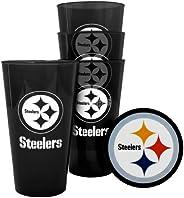 Pittsburgh Steelers Plastic Pint Glass Set