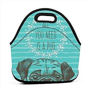 Borsa per il trasporto portatile Borsa contenitore, Immagine animale di un cane carino con tutto ciò di cui hai bisogno… 9 spesavip