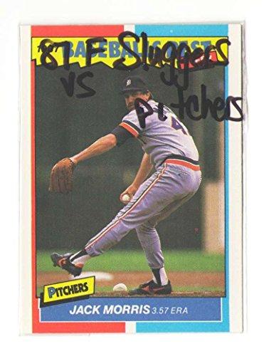 1987 Fleer Sluggers vs Pitchers DETROIT TIGERS Team Set