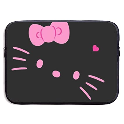 e801f50d3 Amazon.com: Laptop Sleeve Bag Hello Kitty Black Face Notebook Computer  Pocket Case for 13-15 Inch Notebook Tablet IPad Tab: Home & Kitchen