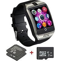 Reloj inteligente Bluetooth teléfono con cámara, impermeables SmartWatch para Android Samsung IOS iPhone 7Plus 6S Hombres Mujeres Niños Niños, Negro