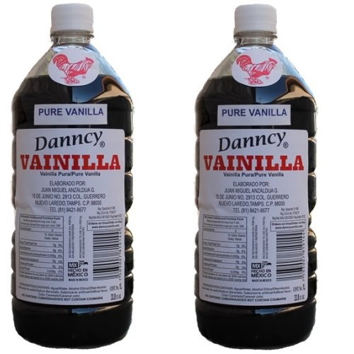 2 X Danncy Dark Pure Mexican Vanilla Extract From Mexico 33oz Each 2 Plastic Bottle Lot Sealed