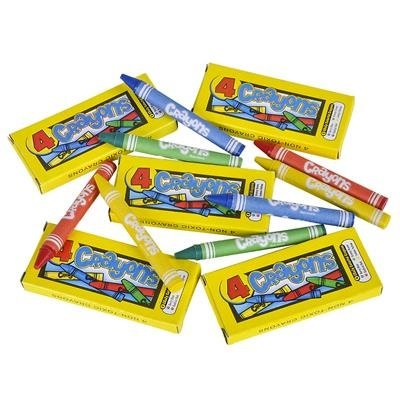 Crayons - 4 Pack - Assorted Colors 144 packs of 4 crayons sku# 1192989MA by DDI (Image #1)