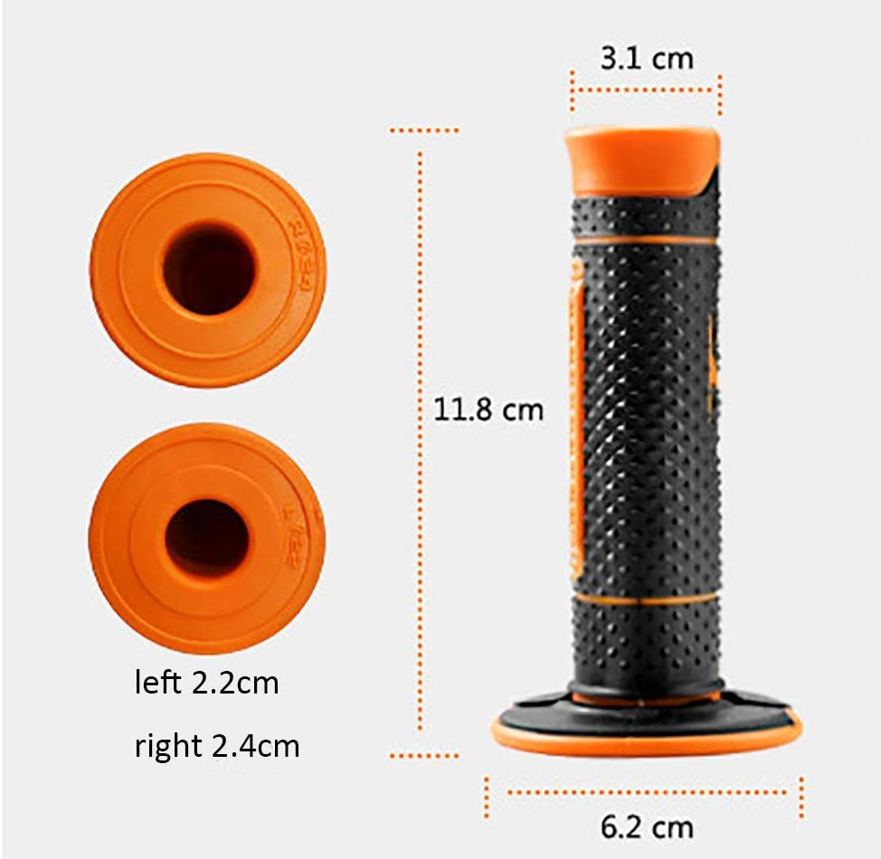 7//8 22mm Motorcycle Hand Grips Handle Rubber Bar Gel Grip Orange Modified Accessory for KTM Duke 125 200 390 690 990 Motocross