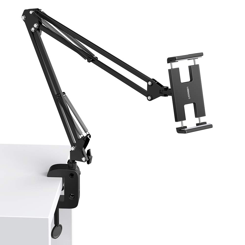 UGREEN Tablet Holder for Bed Desk Overhead Long Arm Tablet Mount Clamp Lazy Stand Compatible with iPad Air Pro Mini 4 3 2 Samsung Galaxy Tab Nintendo Switch E-Reader