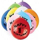 Balloons Happy 1st Birthday Airfill Party Balloons 10pk