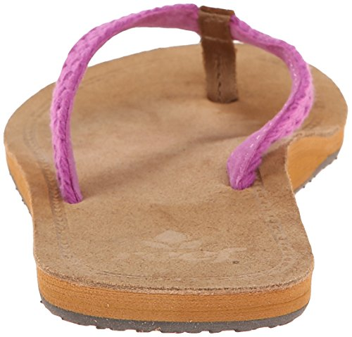 Reef Gypsy Macrame Sandalias flip-flop, Mujer Multicolor (Purple)