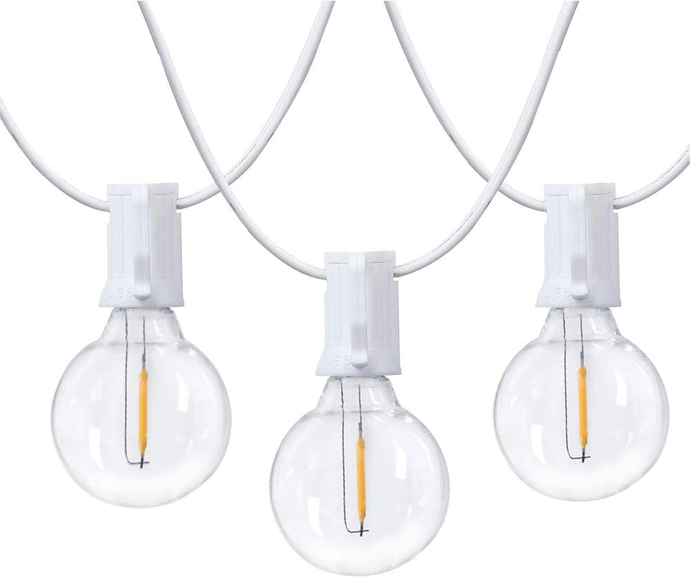 Yolight 25FT Outdoor String Lights-G40 Globe Patio Lights with 27 Edison Vintage Bulbs Commercial Grade UL Listed Connectable Hanging Lights for Bistro Garden Backyard Wedding Balcony Outside D/écor 2 spare