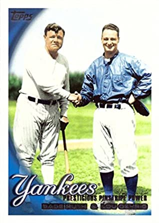 Amazoncom 2010 Topps 637 Babe Ruth And Lou Gehrig Shaking