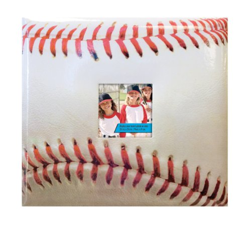 MBI 13.2x12.5 Inch Sport and Hobby Postbound Album with 12x12in Pages, Baseball Theme - Postbound Top