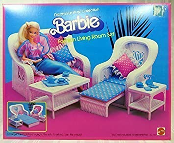 1983 Barbie Fashion Living Room Set Dream House Furniture Collection No 7404