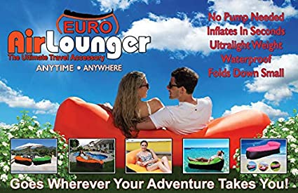 Amazon.com: Euro Air Lounger Inflatable 2 Person Lounger ...