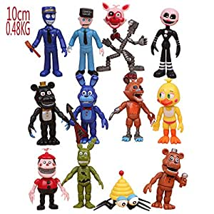 Max Fun Set of 12 pcs Five Nights at Freddy's Action Figures Toys Dolls Xmas Gifts Cake Toppers, 4 inches