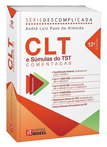 Read Online CLT E Súmulas Do TST Comentadas pdf epub